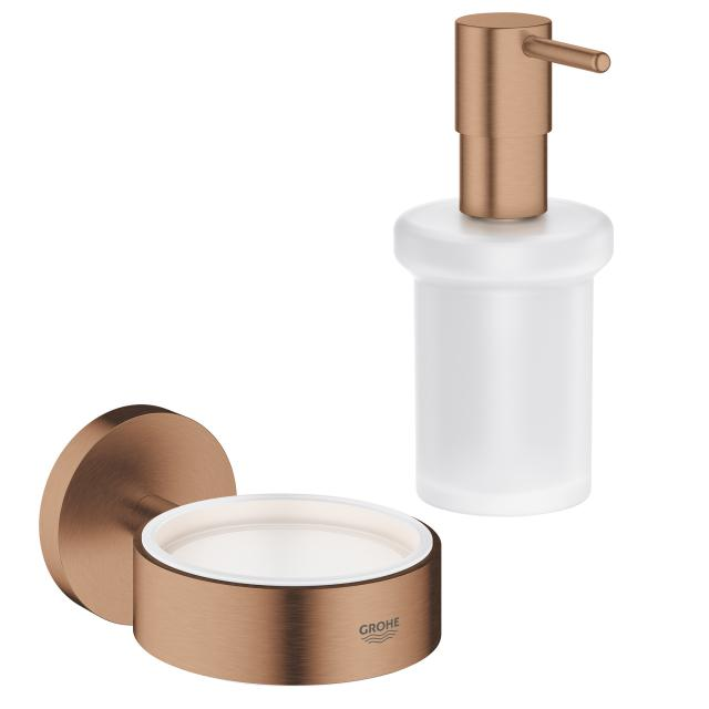 Grohe Essentials soap dispenser with holder brushed warm sunset