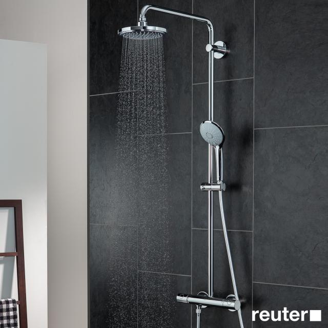 Grohe Euphoria Colonne de douche pour montage mural avec bras de douche 450 mm