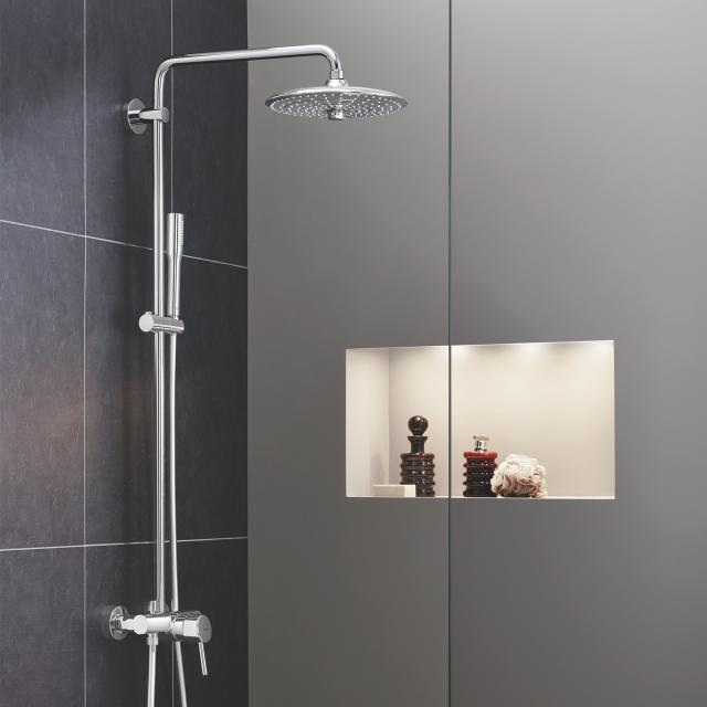 Grohe Euphoria Concetto System 260 shower system with wall-mounted single lever mixer, EcoJoy