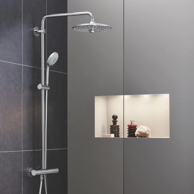 Grohe Euphoria System 260 Colonne de douche avec mitigeur thermostatique, montage mural