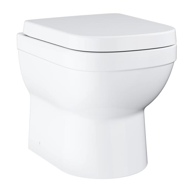 Grohe Euro Ceramic floorstanding washdown toilet set, short version, with toilet seat white, with PureGuard hygiene coating