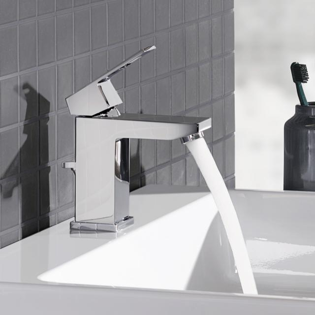 Grohe Eurocube single lever basin mixer, S-Size with pop-up waste set