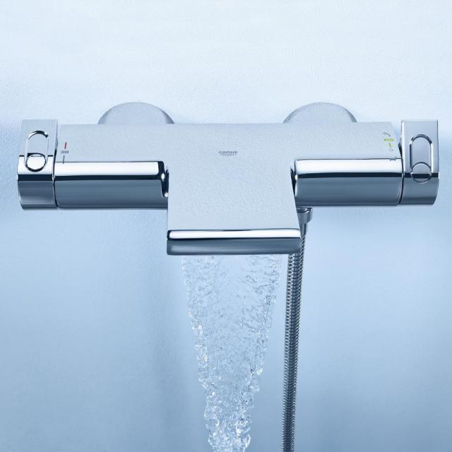 """Grohe Grohtherm 2000 thermostatic bath mixer, 1/2"""" wall-mounted"""
