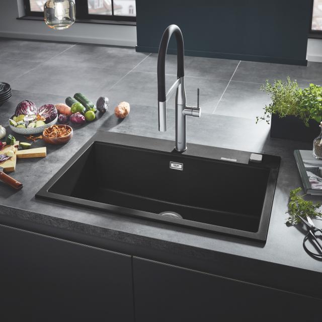 Grohe K700 built-in sink granite black