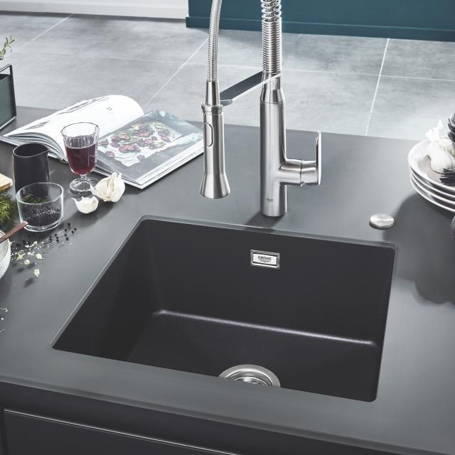 Grohe K700U sink granite black