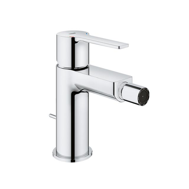 Grohe Lineare single lever bidet fitting with pop-up waste set chrome