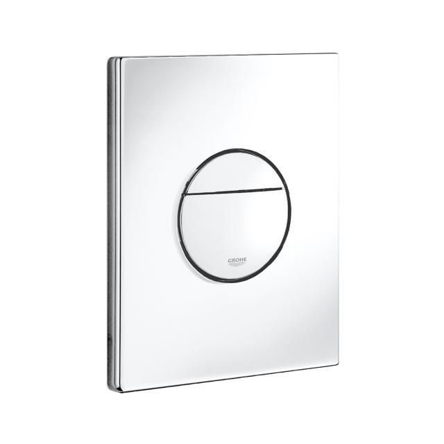 Grohe Nova Cosmopolitan toilet flush plate, for vertical and horizontal installation white