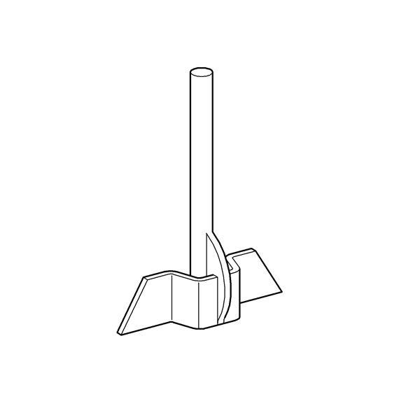 Grohe push bar 43535 215 mm