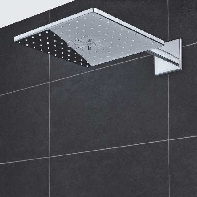 Grohe Rainshower 310 SmartActive Cube overhead shower set chrome