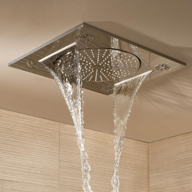 """Grohe Rainshower F-Series 15"""" ceiling-mounted shower 3 spray modes"""