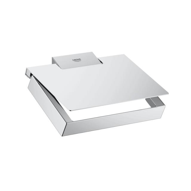 Grohe Selection Cube toilet roll holder with cover
