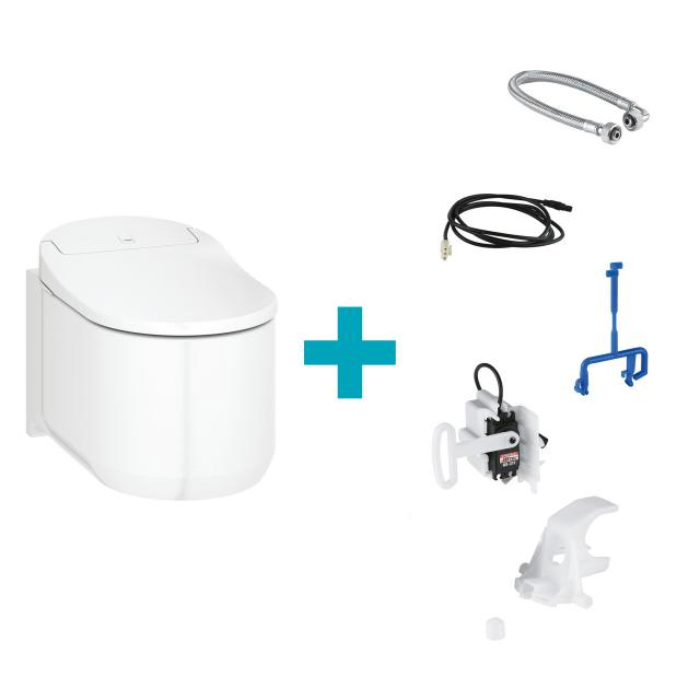 Grohe the NEW Sensia Arena shower toilet complete system for concealed cistern, wall-mountin, with toilet seat white, with installation set