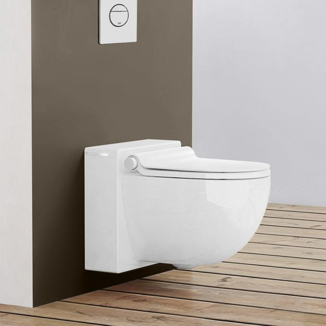 Grohe Sensia IGS shower toilet, complete set for concealed cistern, wall-mounted, with toilet seat white