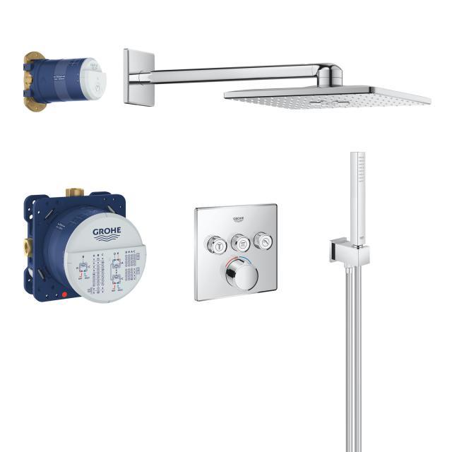 Grohe SmartControl Colonne de douche avec mitigeur et douche de tête Rainshower 310 SmartActive Cube