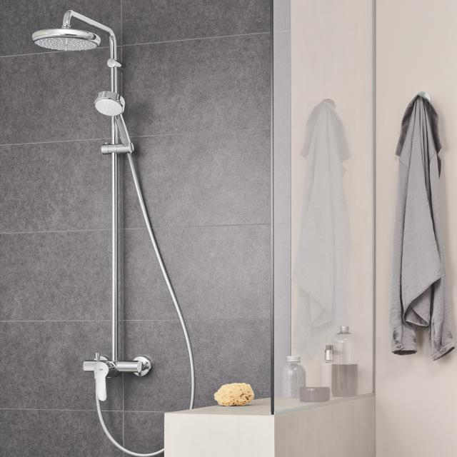 Grohe Tempesta Cosmopolitan System 210 shower system with wall-mounted single lever mixer