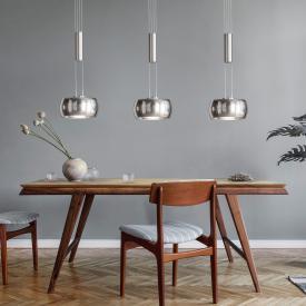 Fischer & Honsel Colette LED pendant light with dimmer, 3 head