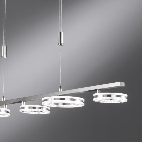 Fischer & Honsel Kreis LED pendant light with CCT and dimmer, long