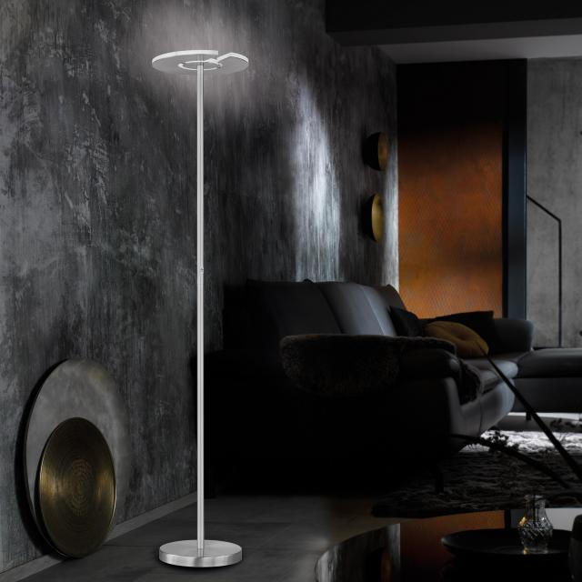FISCHER & HONSEL Dent LED floor lamp with dimmer and CCT, 1 head