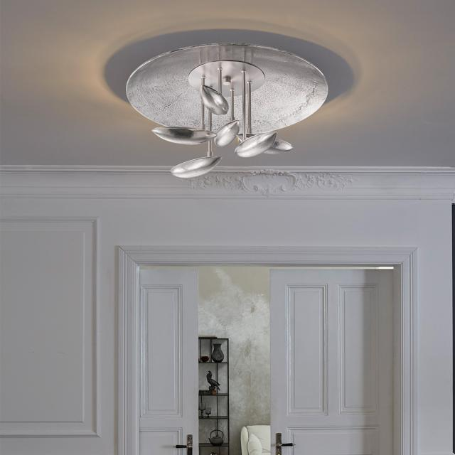 FISCHER & HONSEL Pau LED ceiling light with CCT and dimmer, round