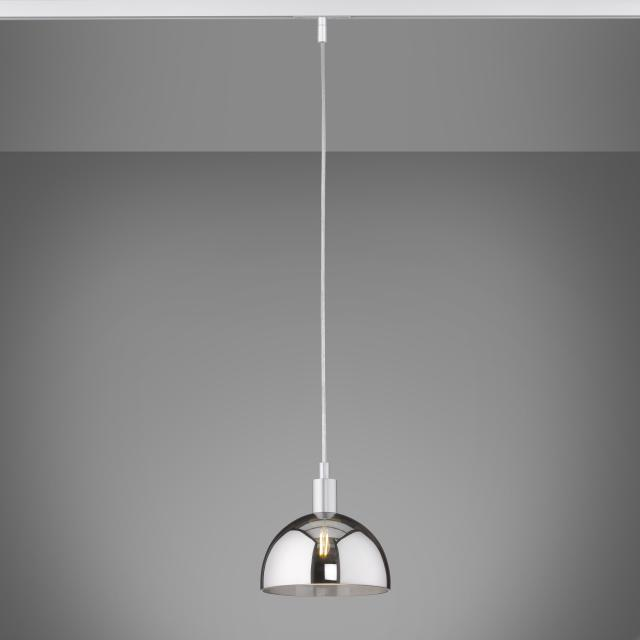 FISCHER & HONSEL pendant with shade for HV-track 6 system