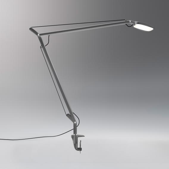 FontanaArte Volee LED table lamp with clamp and dimmer