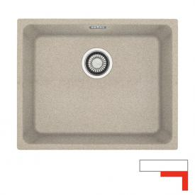 """Franke Kubus KBG 110-50 undermount sink with pull-button for waste valve 3 1/2"""" beige"""