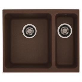 Franke Kubus KBG 160 undermount sink with pull-button for waste valve chocolate
