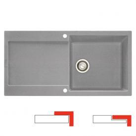 Franke Maris MRG 611-100 reversible sink stone grey