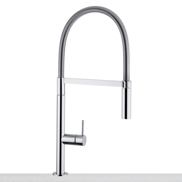 Franke Lounge kitchen fitting with flexible hose spout chrome