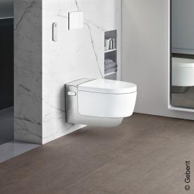 Geberit AquaClean Mera Comfort shower toilet complete set, with toilet seat white/chrome