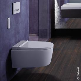 Geberit AquaClean Sela wall-mounted complete shower toilet system, with toilet seat white