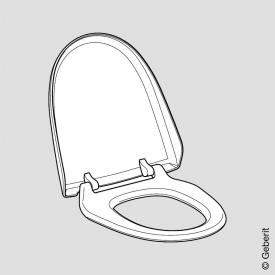 Geberit AquaClean toilet seat and lid