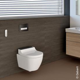 Geberit AquaClean Tuma Comfort complete shower toilet set white/black