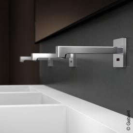 Geberit Brenta Robinetterie de lavabo murale pour boîtier de fonctionnement encastré, sans limiteur de température Sur secteur, longueur : 220 mm
