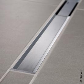 Geberit CleanLine 20 shower channel polished stainless steel / brushed stainless steel, for shower channel: 30 - 90 cm