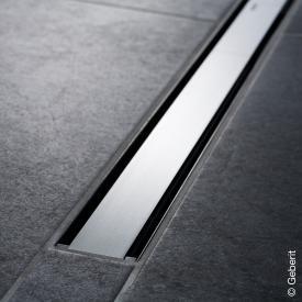 Geberit CleanLine 60 shower channel dark stainless steel / brushed stainless steel, for shower channel: 30 - 90 cm