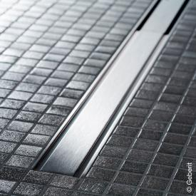 Geberit CleanLine 60 shower channel for thin floor coverings brushed stainless steel, for shower channel: 30 - 130 cm