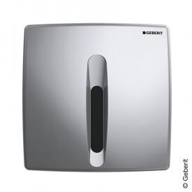 Geberit HyBasic urinal control, with sensor, infrared/mains connection chrome silk gloss