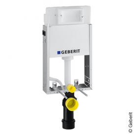 Geberit Kombifix Basic frame for wall-mounted toilet with Delta UP100 concealed cistern