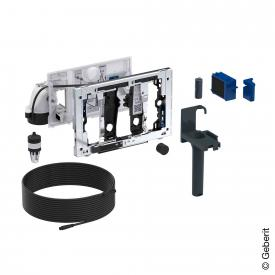 Geberit module with manual flushing and slot for DuoFresh stick chrome