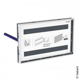 Geberit Omega cover plate with visible frame
