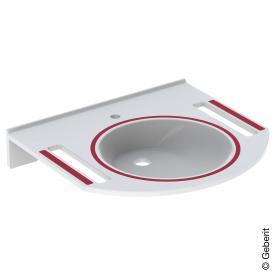 Geberit Publica washbasin white, with 1 tap hole
