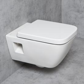 Geberit Renova Plan & Tellkamp Premium 2000 short wall-mounted toilet set, rimless: toilet with KeraTect, toilet seat with soft-close
