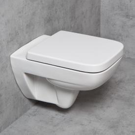 Geberit Renova Plan & Tellkamp Premium 2000 wall-mounted toilet set: toilet without flushing rim, with KeraTect, toilet seat with soft-close