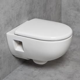 Geberit Renova & Tellkamp Premium 3000 wall-mounted rimless toilet set: toilet with KeraTect, toilet seat with soft-close