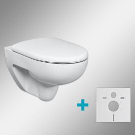 Geberit Renova & Tellkamp Premium 3000 toilet set with accessories: rimless toilet, with KeraTect, toilet seat with soft-close
