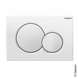 Geberit Sigma01 flush plate for dual flush system white
