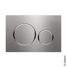 Geberit Sigma20 dual flush plate, screw-in brushed stainless steel/polished stainless steel