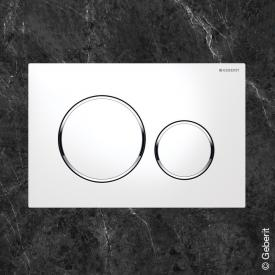 Geberit Sigma20 flush plate for dual flush system white/chrome