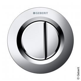 Geberit Type 01 remote control, pneumatic, for dual flush, concealed button matt chrome